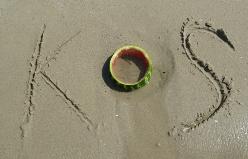Řecko Kos v písku